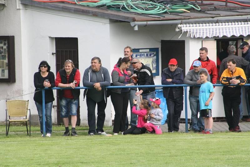 Z dohrávky Polepy - Konárovice (2:3).