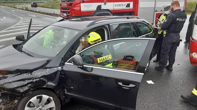 Dopravní nehoda na obchvatu Kolína ve čtvrtek 11. června 2020.
