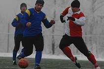 Z utkání Velim - Kunice (1:2) na zimním turnaji pražského Meteoru.