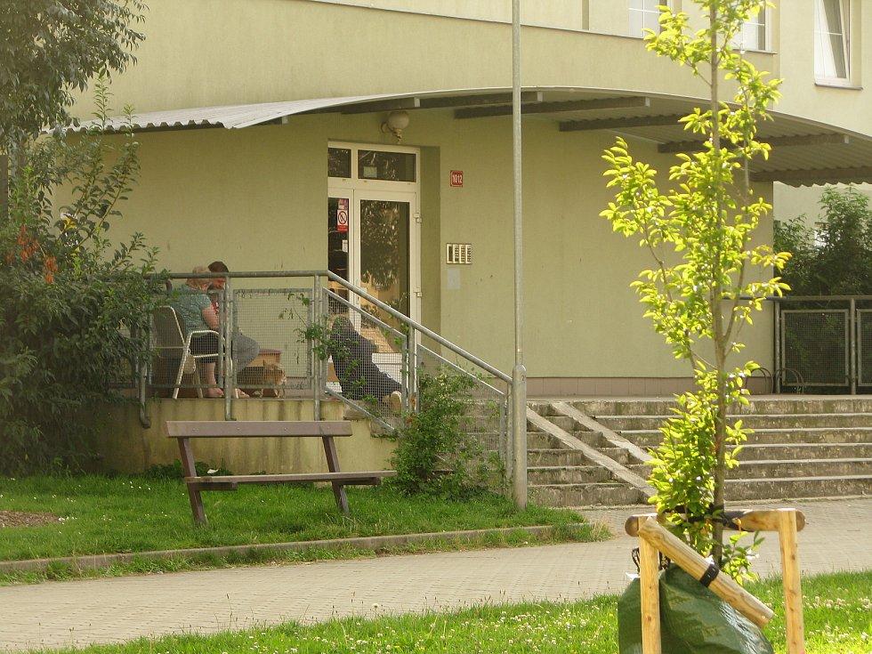 Na sídlišti Kasárna v Kolíně.