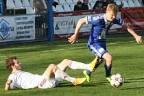 Z utkání FK Kolín - Třinec (1:1).