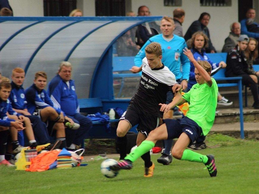 Z utkání divize dorostu FK Kolín U17 - Vyšehrad (2:1).