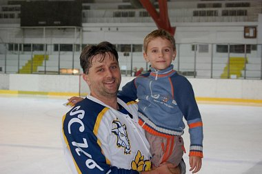Michal Král se synem Jakubem.