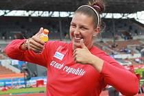 Kateřina Šafránková se raduje. Právě se dostala do finále MS.