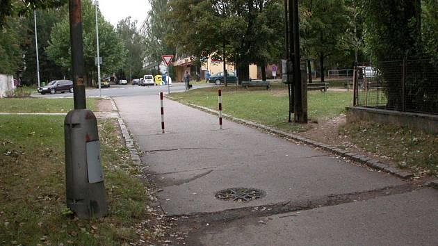 Místa, na kterých je v Kolíně cítit unikající plyn