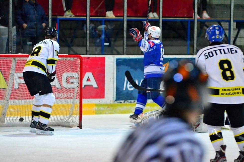 Z utkání play off II. ligy; Kolín - Moravské Budějovice 4:5 sn