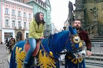 Ivana Mikšovská si před utkáním v Olomouci dopřála jízdu na koni.