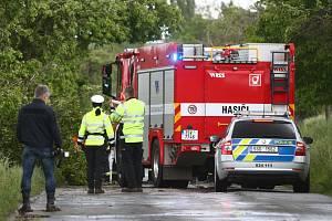 Smrtelná nehoda u Bylan na Kolínsku v sobotu 29. května 2021.