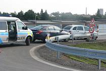 Dopravní nehoda na nově vybudované komunikaci z Kolína na Polepy