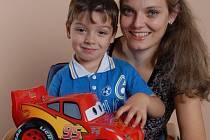 Edita Burešová se synem Tomáškem