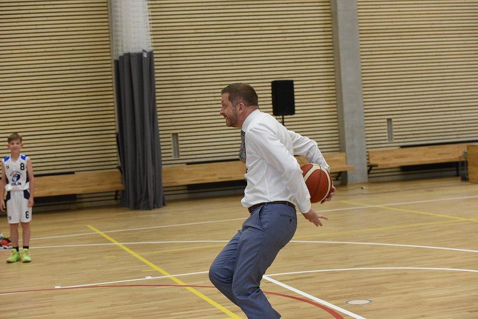 Ze slavnostního otevření nové sportovní haly v Borkách v Kolíně.