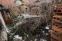 Dům v Kouřimi, ve kterém v noci na 25.12 uhořel muž.