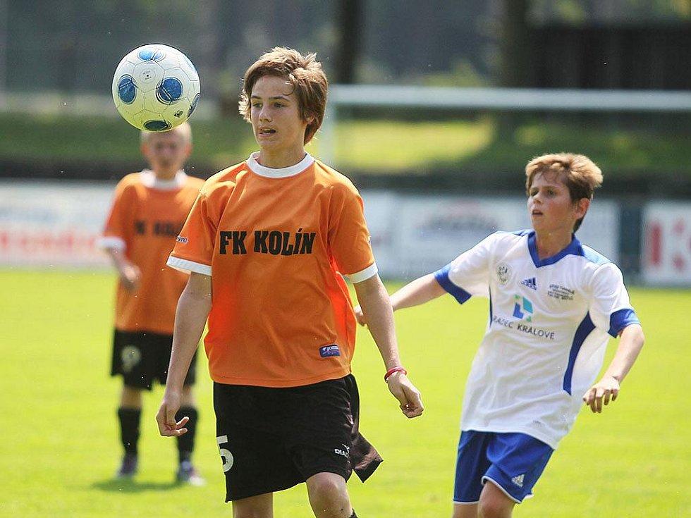 Z utkání mladších žáků FK Kolín - Hradec Králové (1:4).