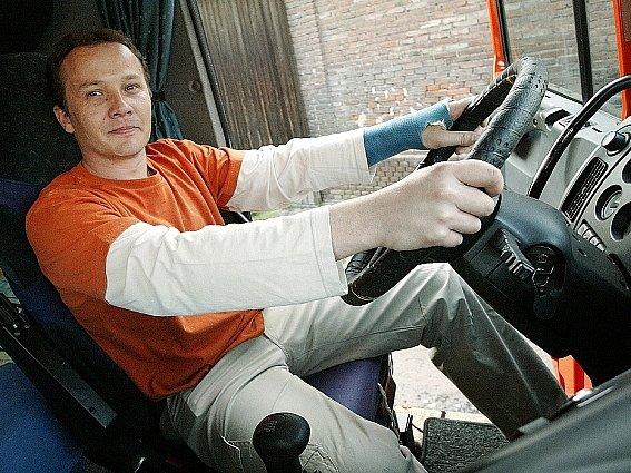 Řidič kamionu Josef Masopust.