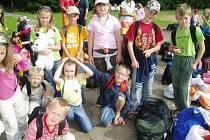 Rekreační středisko Radost v blízkosti Světlé nad Sázavou se stalo pro tento a následující týden domovem několik desítek dětí z okolí Kolína.