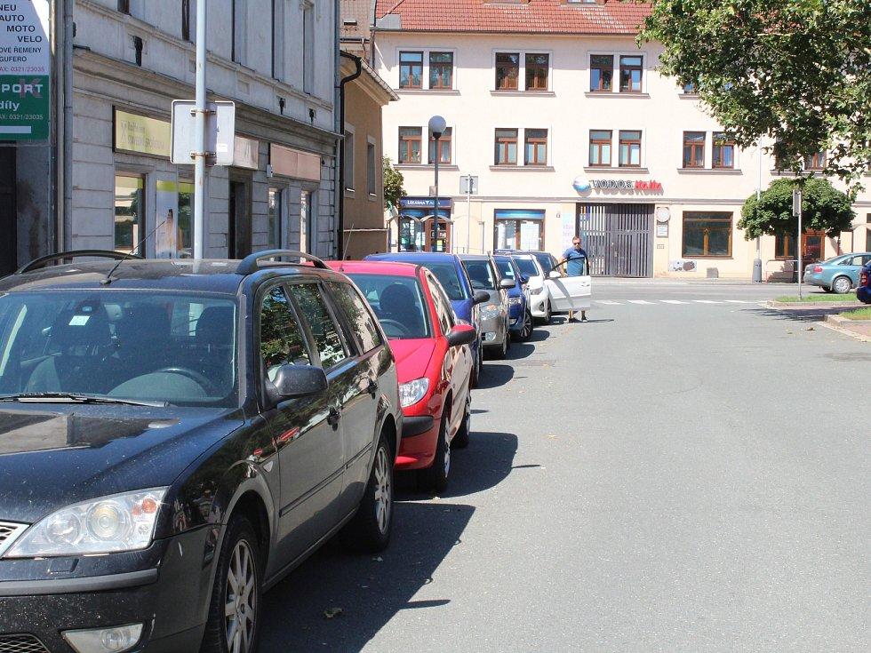 Parkování v Havelcově ulici v Kolíně