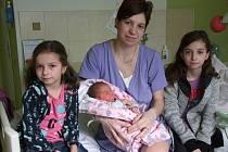 Julie Havlíčková přišla na svět 14. března 2018 a po porodu se pyšnila mírami 3660 gramů a 51 cm. V Kolíně bude vyrůstat s maminkou Veronikou, tatínkem Lukášem a sestřičkami Eliškou (9) a Petruškou (6).