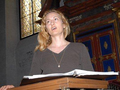 Sopranistka Sandra Anna Mašínová.
