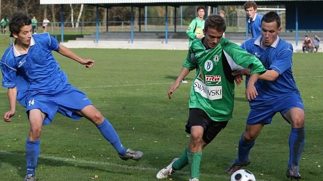Z utkání starších fotbalových divizních dorostenců FK Kolín - Jablonec B (2:2).