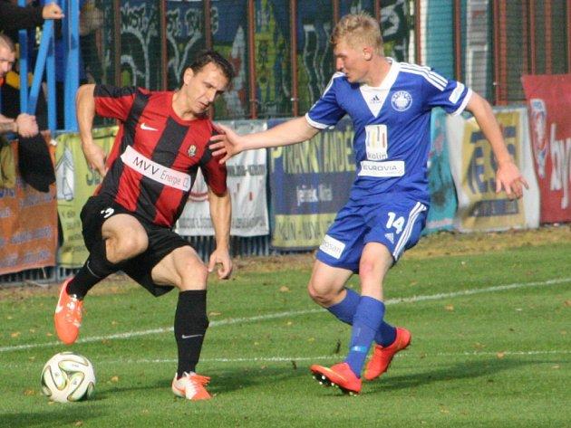 Z utkání FK Kolín - Opava (0:1).