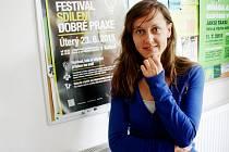Monika Březinová, PR manažerka Prostor Plus o.p.s.