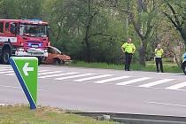 Vážná dopravní nehoda se stala v pátek 26. dubna 2019 u kolínského Lidlu.
