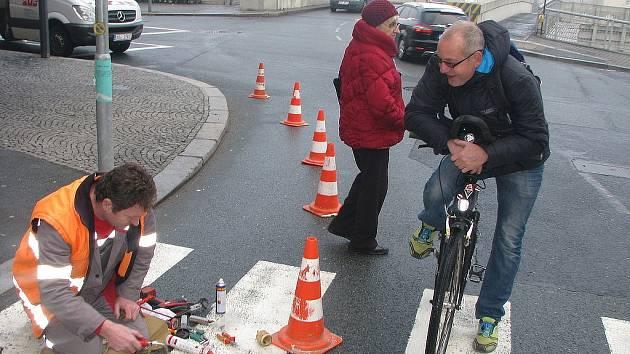 Oprava zemního nasvětlení přechodu v Mostní ulici