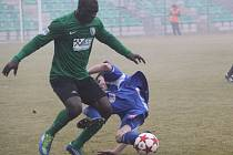Z utkání Chomutov - FK Kolín (2:3).