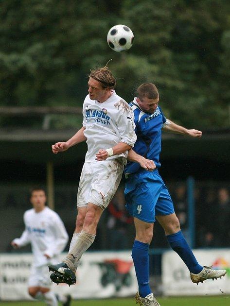 Z utkání FK Kolín - PLzeň B (0:2).