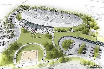 Budoucí Národní bruslařský stadion ve Velkém Oseku