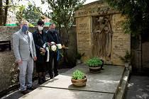 Připomenutí výročí úmrtí Františka Kmocha v Kolíně.