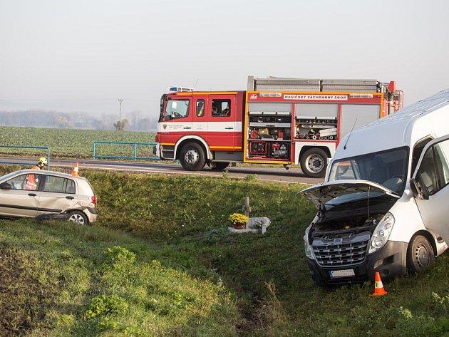Dopravní nehoda u Jestřabí Lhoty