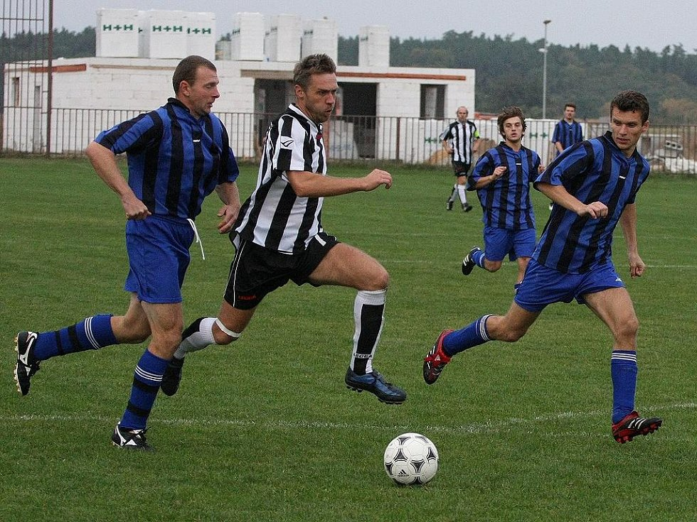 Z utkání Konárovice - Břežany II (1:4).