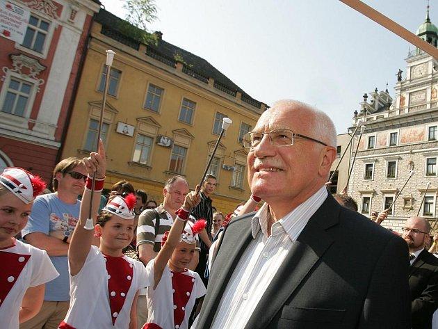 Václav Klaus na Kmochově Kolíně 2010