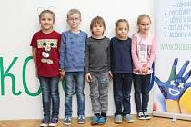 Prvňáčci ze Základní škola Prosperity v Nové Vsi I ve školním roce 2019/2020.