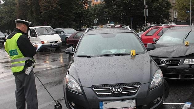 Nehoda na křižovatce ulic Jaselská a Žizkova