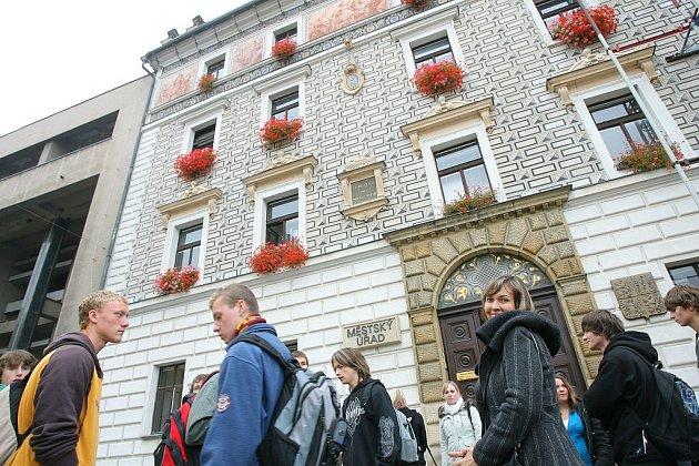 Přijetí českých a německých studentů na kolínské radnici