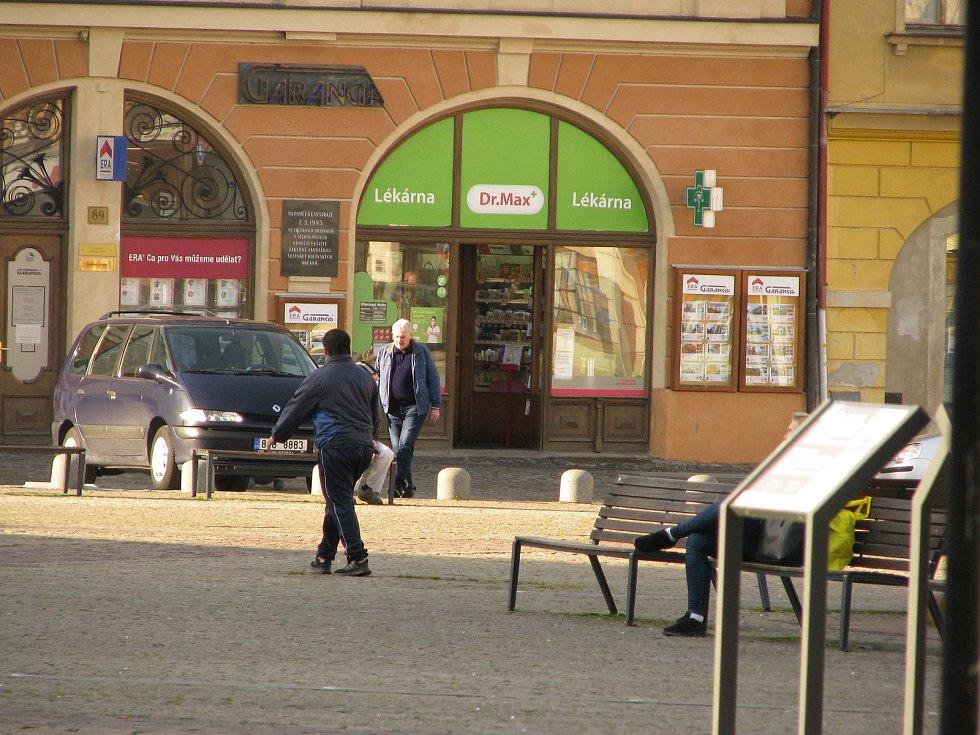 Lékárna Dr. Maxe na Karlově náměstí v Kolíně.