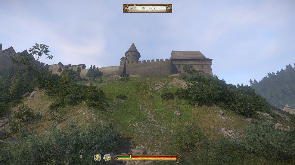 Hrad Pirkštejn v Ratajích nad Sázavou pohled ze hry