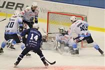 Hokejové utkání mezi týmy SC Kolín a Rytíři Kladno se hrálo 6. ledna 2021.