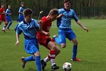 Z utkání FK Kolín U15 - FAŠV (1:1).