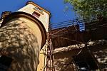 Z rekonstrukce kostela sv. Prokopa v Chotouni.