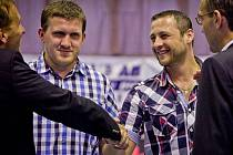 Jiří Kašpar (druhý zprava) je novou posilou kolínských futsalistů.