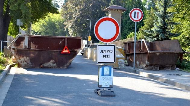 Radimský most je uzavřený.