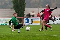 Z utkání Brozany - Český Brod (2:0).
