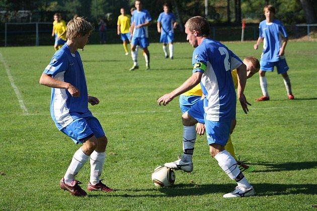 Z utkání staršího dorostu U 19 FK Kolín - AFK Chrudim (0:7).