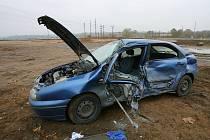 Dopravní nehoda na výpadovce z Kolína na Prahu