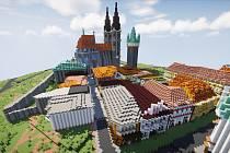 Kolín jako město ve virtuálním světě Minecraftu