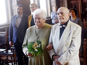 Marie a Stanislav Pokorných oslavili zlatou svatbu