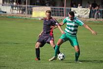 Z fotbalového utkání okresního přeboru  Jestřabí Lhota -- Zásmuky (1:1, na penalty 4:3)